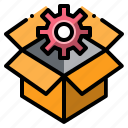 box, creativity, design, idea, thinking icon