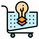 creative, graphic, idea, trolley icon