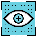 eye, graphic, tool, view icon