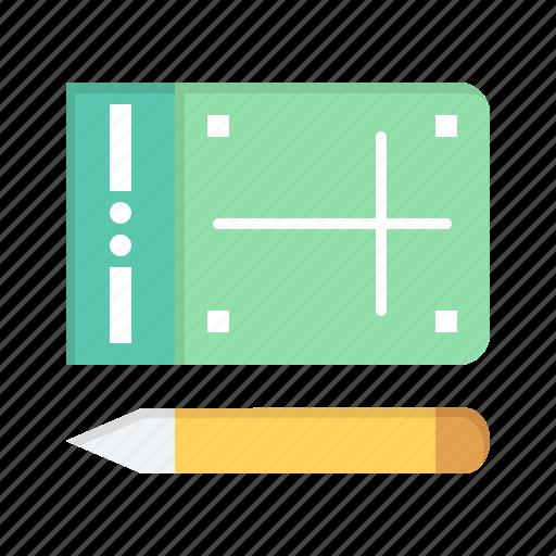 education, mobile, online, pencil icon