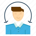 client, male, services, user icon