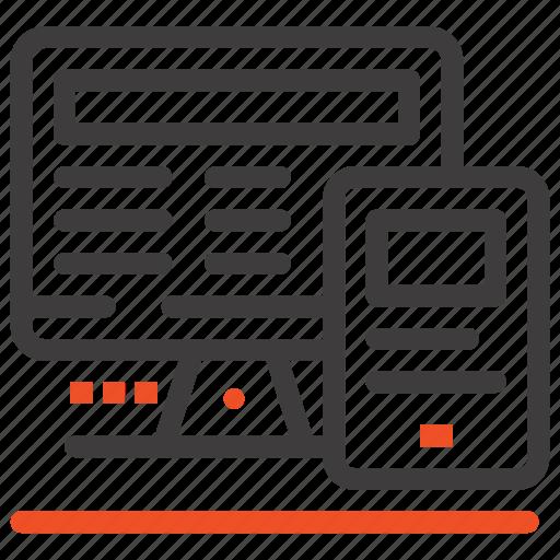 calculatre, computer, education, monitor icon