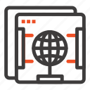 brower, globe, internet, web icon