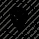 arrow, location, map, marker, pin icon