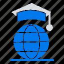 online, globe, internet, graduation
