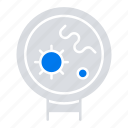 bacteria, medical, search, viruses icon
