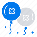 and, balloons, birthday, celebration, party icon