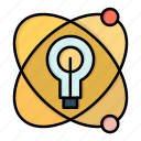 atom, bulb, education, nuclear icon