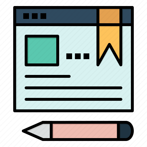 browser, education, pen, text icon