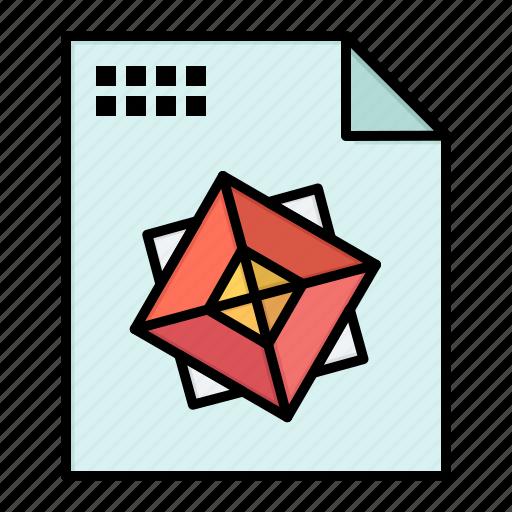 3d, design, file, processing icon