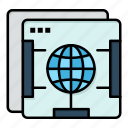 brower, globe, internet, web icon
