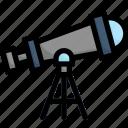 innovation, design, thinking, creative, astronomy, telescope, observation icon