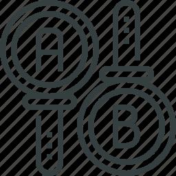 ab, check, comparison, optimization, split, test, testing icon
