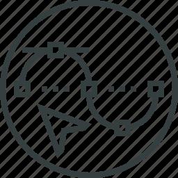bezier, curve, design, edit, graphic, illustration, line icon