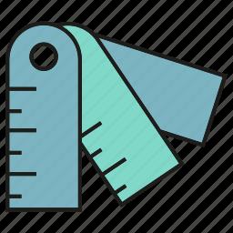 design tool, measure, ruler, scale, size icon