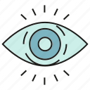 eye, iris, look, view, watch icon