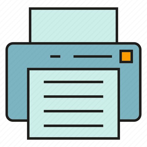 document, electronic device, office supply, printer icon