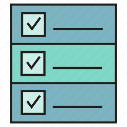 check list, document, file, paper icon