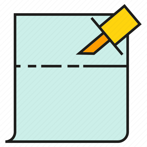 memo, note, paper, pin icon