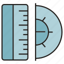 dimension, magnitude, measure, ruler, scale, size, tool icon