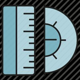 dimension, magnitude, measure, ruler, scale, size, tool icon