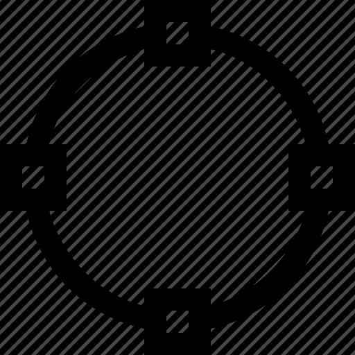 circle, design, line, path icon