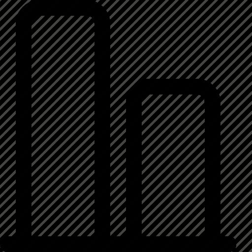 align, bottom, design, tool, vertical icon