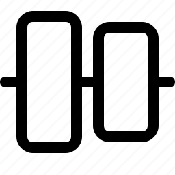align, center, design, tool, vertical icon