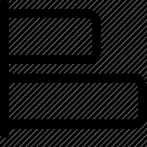 align, design, horizontal, left, tool icon
