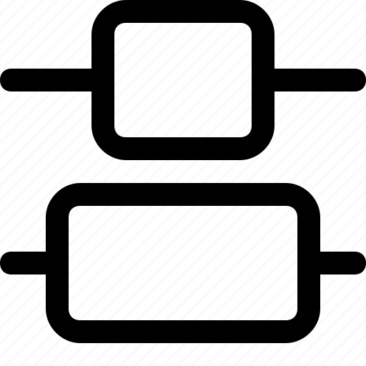 align, center, design, distribute, tool, vertical icon
