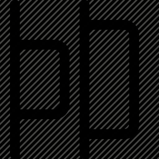 align, design, distribute, horizontal, left, tool icon