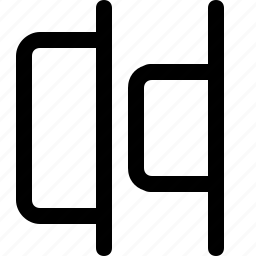 align, design, distribute, horizontal, right, tool icon