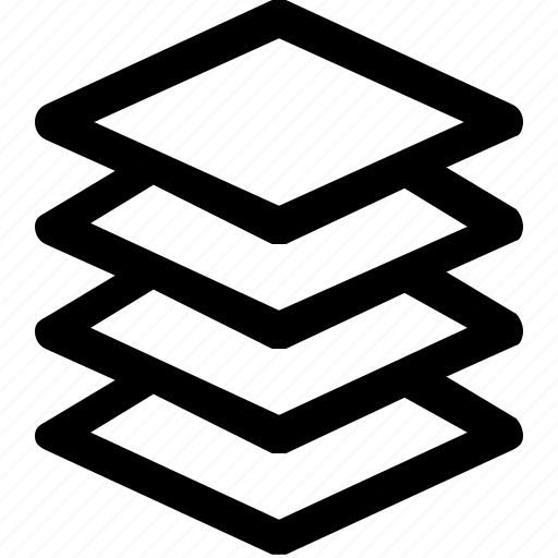 arrange, design, layer, stack, tool icon