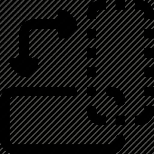 design, left, right, rotate, tool icon