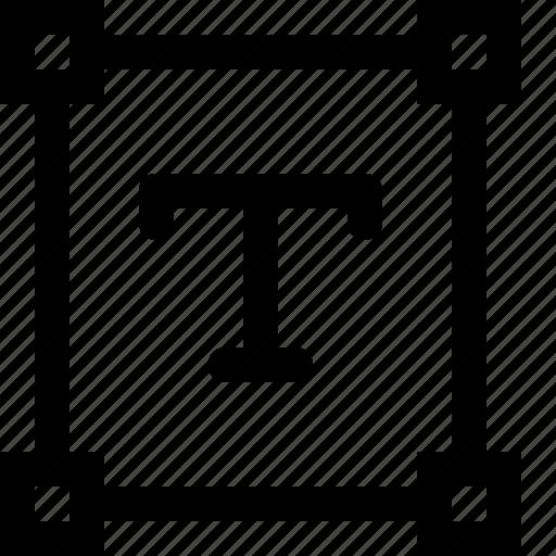 design, line, path, square, text, tool, type icon