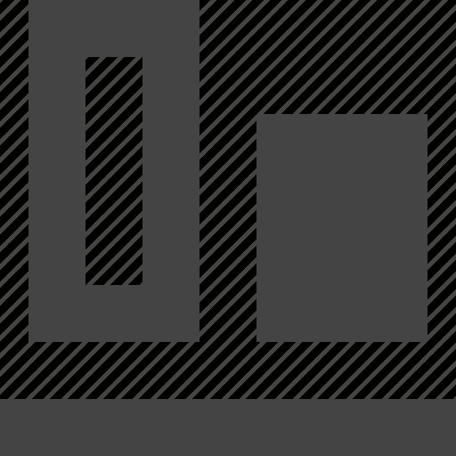 align, bottom, design, graphic, interface icon