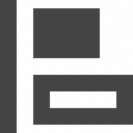 align, design, graphic, interface, left icon
