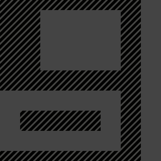 align, design, graphic, interface, right icon