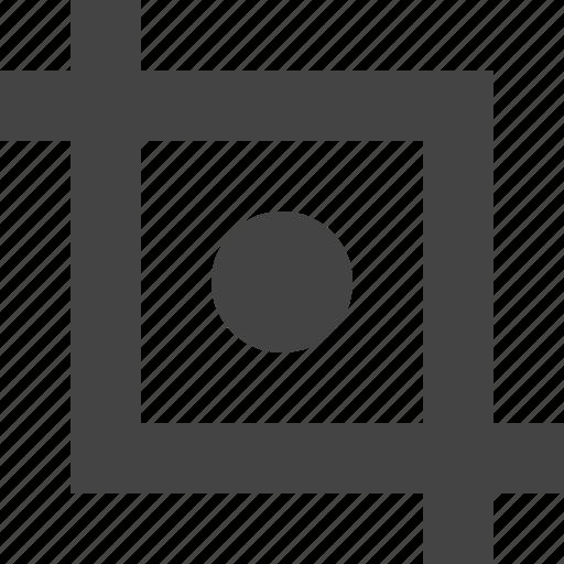 crop, design, graphic, interface, point icon