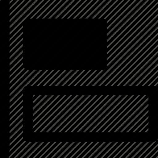 align, arrange, design, elements, horizontal, left, objects icon