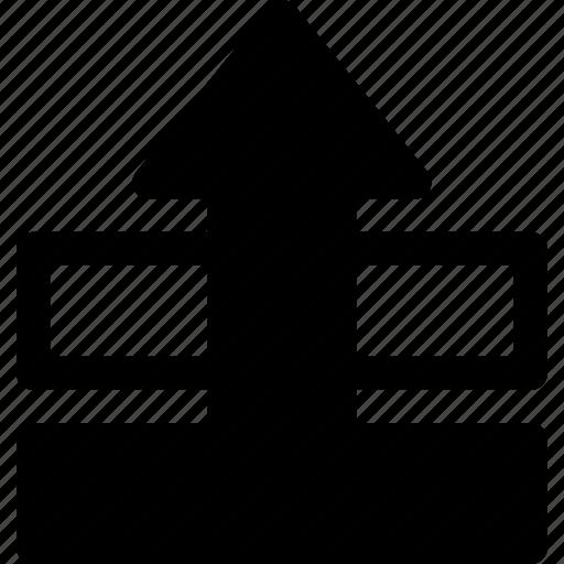 arrange, design, element, move, order, up, visibility icon
