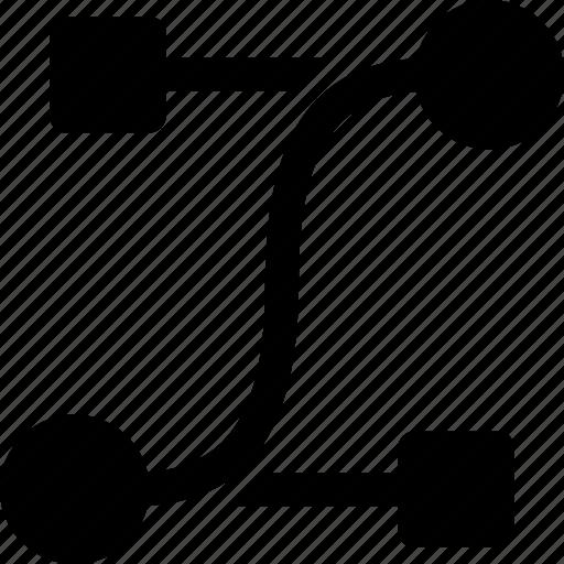 curve, design, editing, handles, move, shape, tool icon