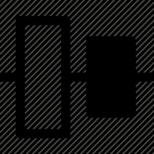 align, arrange, center, design, elements, layout, vertical icon