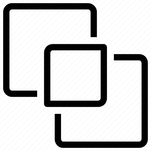 fill, overlap, stroke icon