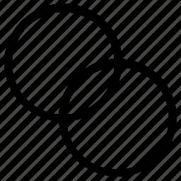 circle, overlap icon