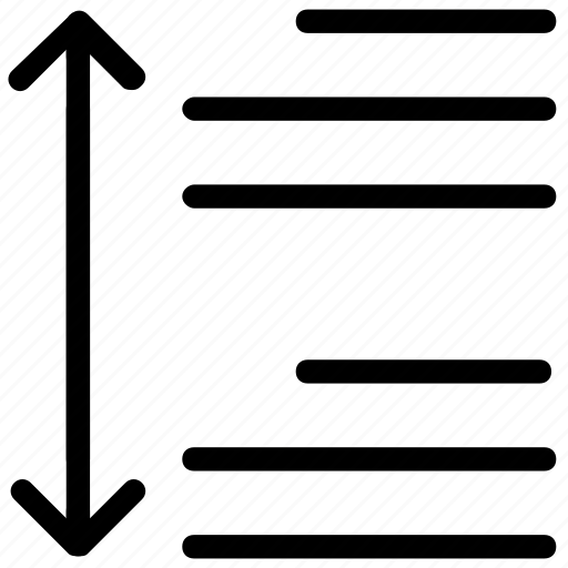 line, spacing icon