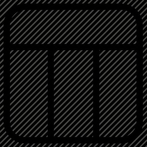 design, horizontal, lines icon