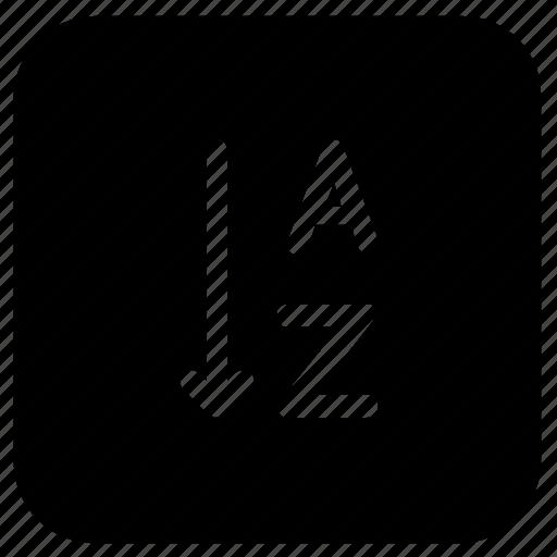 Alphabet, alphabetical, order, arrangement icon - Download on Iconfinder