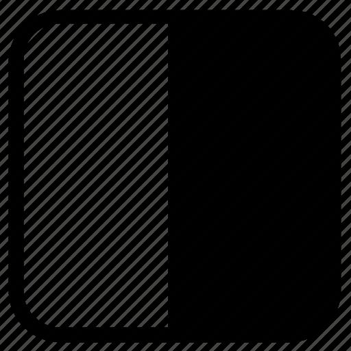 horizontal, seperate, square icon