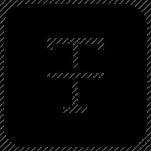 line, text, through icon